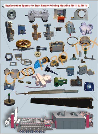 Spares For Stormac Stork Rotary Printing Machine Parts